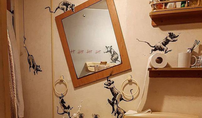 """Banksy pokazuje nowe dzieło: """"Moja żona nie znosi, jak pracuję w domu"""""""