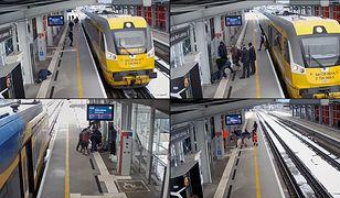 Gdańsk. Mężczyzna zasłabł na peronie. Przytomna reakcja kierowniczki pociągu i pasażera