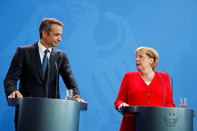 Premier Grecji Kiriakos Micotakis  rozmawiał w Berlinie z kanclerz Niemiec Angelą Merkel na temat reparacji