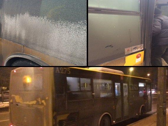 Gigantyczny brud na miejskich autobusach. Przez szyby nic nie widać