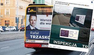 W odpowiedzi na zarzuty ws. reklam na stołecznych autobusach PO przypomina plakaty PiS na radiowozach ITD