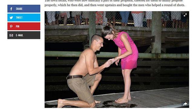Chciał oświadczyć się swojej dziewczynie, pierścionek wylądował w oceanie