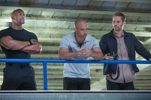Dwayne Johnson, Vin Diesel i Paul Walker