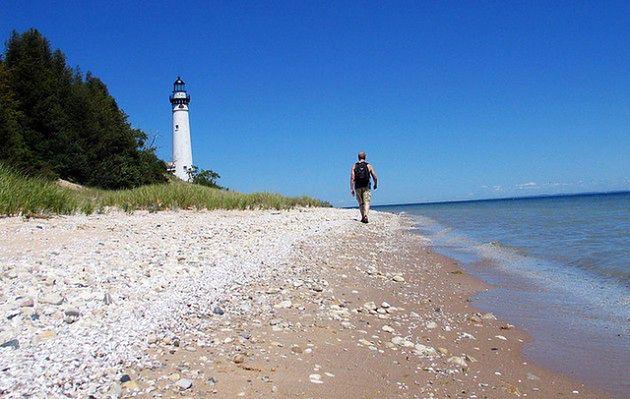 South Manitou Island, Jezioro Michigan, USA