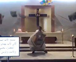 Kamera w kościele nagrała wybuch w Bejrucie. Ksiądz uciekał sprzed ołtarza