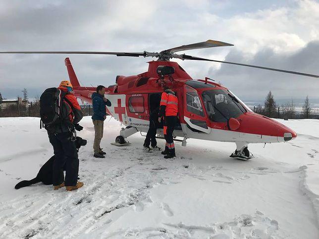 Lawina, która zeszła w Tatrach przysypała jednego turystę.
