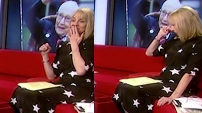 Louise Minchin nie wytrzymała podczas programu o sir Tomie Moorze