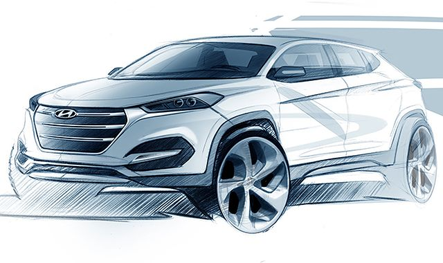 Nowy Hyundai Tuscon: dziś szkic, za miesiąc na żywo