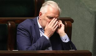 Jarosław Gowin podczas głosowania w sprawie Sądu Najwyższego