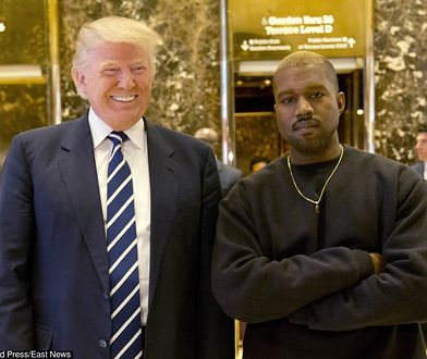 Prezydent Stanów Zjednoczonych Donald Trump wraz Kanye Westem.