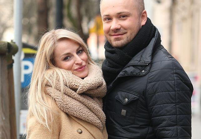 Anita Szydłowska z mężem