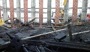 Żurowa. Ośmiu rannych po katastrofie budowlanej. Śmigłowiec LPR w akcji