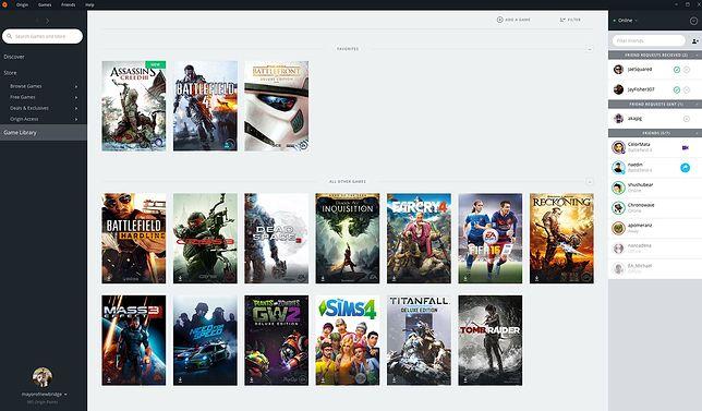 Sklep Origin od Electronic Arts