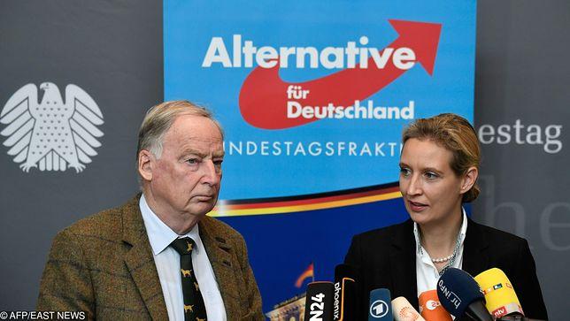 Liderzy Alternatywy dla Niemiec Alexander Gauland (z lewej) i Alice Weidel