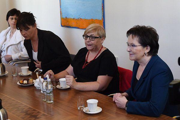 Premier spotkała się z żonami górników z kopalni Kazimierz-Juliusz