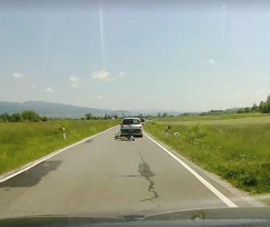 Screen z filmu udostępnionego przez poszkodowaną
