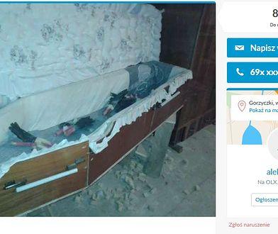 """Trumna """"samoróbka"""" do kupienia za 80 zł. """"Osoba 185 cm wejdzie bez problemu"""""""