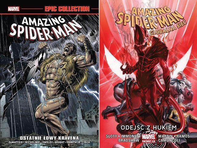 """""""Amazing Spider-Man: Ostatnie łowy Kravena"""" i """"Odejść z hukiem"""", Egmont 2021"""