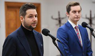 Europoseł Patryk Jaki i radny Warszawy Sebastian Kaleta