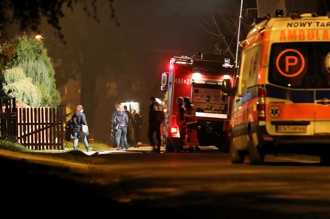 Mieszkańcy budynków sąsiadujących z domem samobójcy zostali ewakuowani