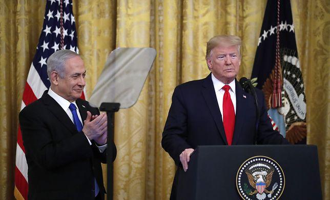 Prezydent USA Donald Trump ujawnił szczegóły planu pokojowego dla Bliskiego Wschodu (na zdjęciu z premierem Izraela Benjaminem Netanjahu)