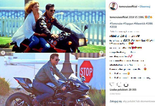 Tom Cruise na zdjęciach jeździ motocyklem Kawasaki