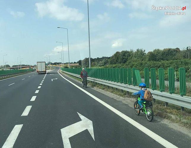 Wycieczka rowerowa po drodze ekspresowej nie skończyła się najlepiej
