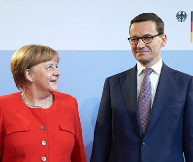 Mateusz Morawiecki twierdzi, że kanclerz Niemiec doceniła Polskę