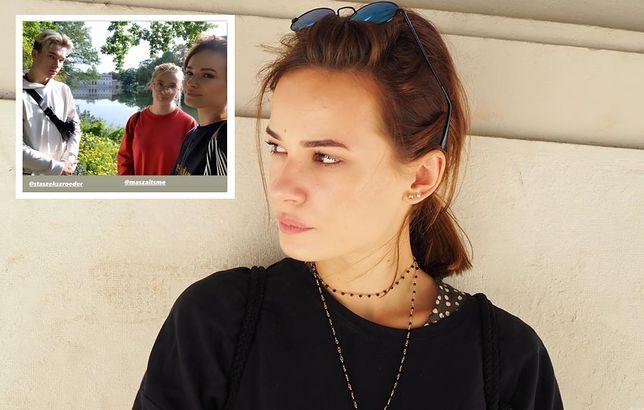 Natalia Szroeder i jej rodzeństwo.