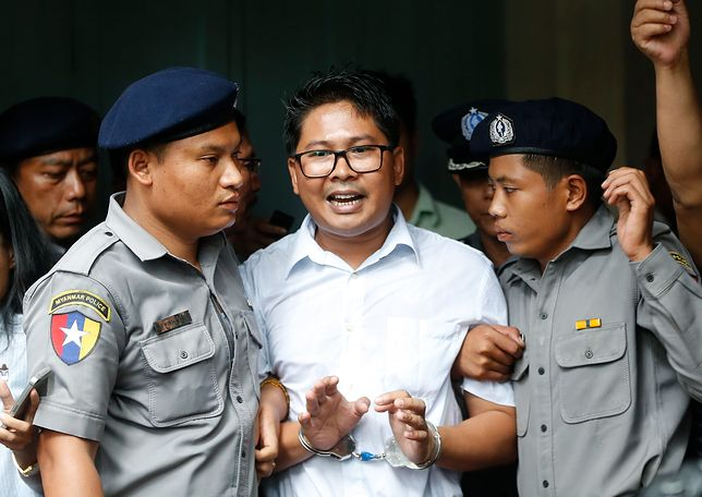 Wa Lone, jeden z dziennikarzy Reutera skazany na 7 lat więzienia w Birmie