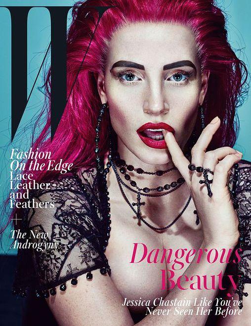 """Jessica Chastain w sesji dla """"W Magazine"""""""