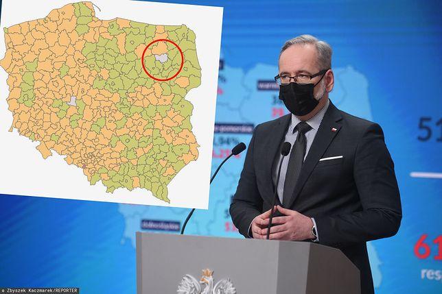 Koronawirus. W ciągu 7 ostatnich dni w powiecie kolneńskim (woj. podlaskie) nie odnotowano ani jednego przypadku zakażenia koronawirusem