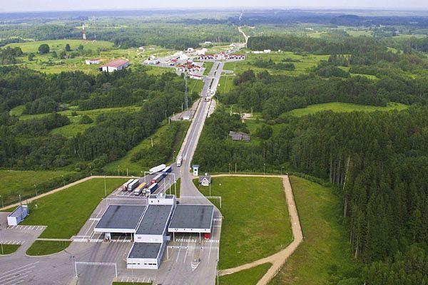 Przejście graniczne w miejscowości Luhamaa
