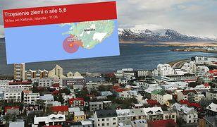 Trzęsienie ziemi na Islandii. Źródło w pobliżu Reykjaviku