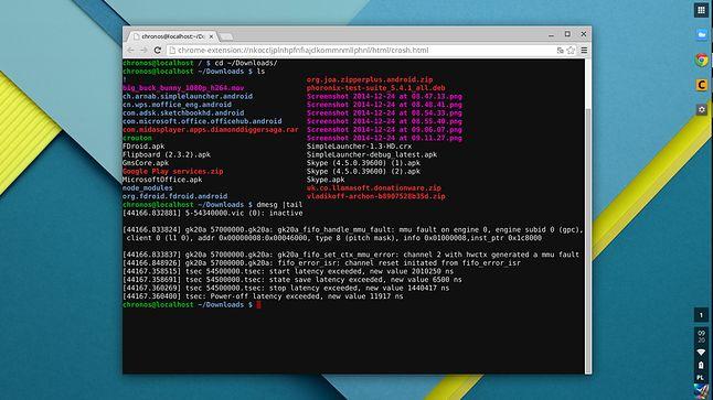 Crosh, standardowa powłoka systemowa ChromeOS-a