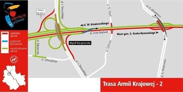 Dobre wieści dla kierowców. Od 29 lipca łatwiejszy przejazd w ciągu Marymonckiej i Słowackiego