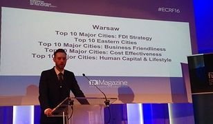 """Warszawa nagrodzona na targach w Cannes. """"Jedno z najlepszych miast dla biznesu w Europie"""""""