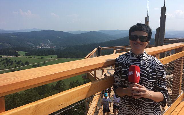 Na wieży w Krynicy-Zdroju