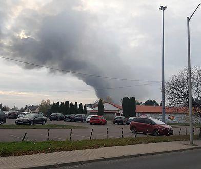 Warszawa. Pożar hali magazynowej przy ul. Krakowiaków