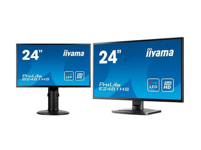 Dwa nowe monitory iiyama: hi-endowy E2481HS oraz biznesowy B2481HS