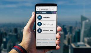 Aplikacja CityProtect firmy Motorola Solutions.