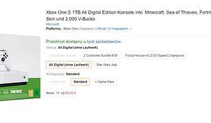 Xbox One S za ok. 400 zł!