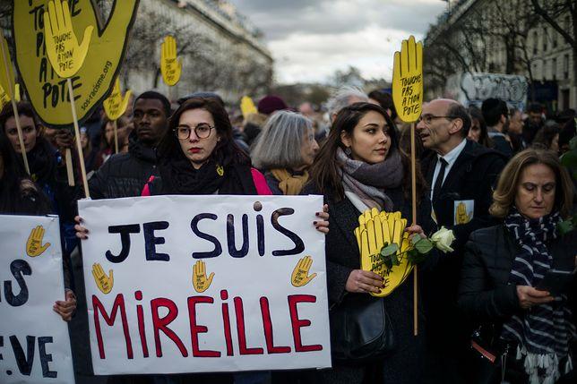 Marsz przeciw antysemityzmowi w Paryżu