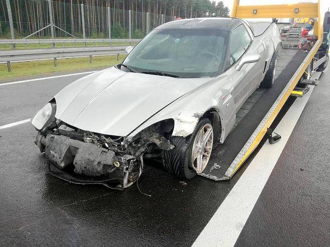 Wypadek Chevrolet Corvette C6
