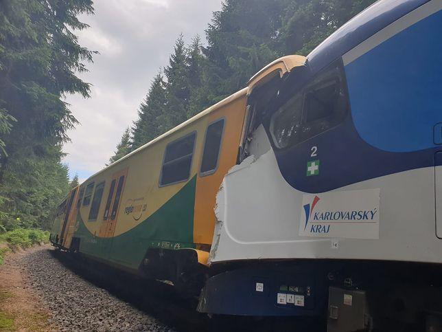 Czechy. Katastrofa kolejowa. Pociągi zderzyły się czołowo (materiały prasowe)