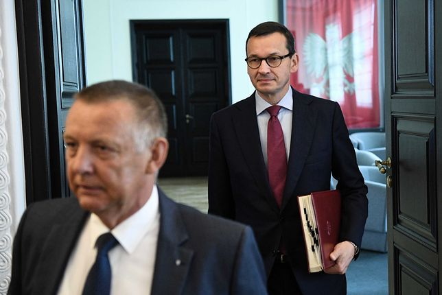 Prezes NIK Marian Banaś oraz premier Mateusz Morawiecki (zdj. arch.)