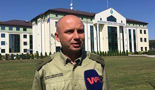 Podporucznik Dariusz Sienicki z Nadbużańskiego Oddziału Straży Granicznej