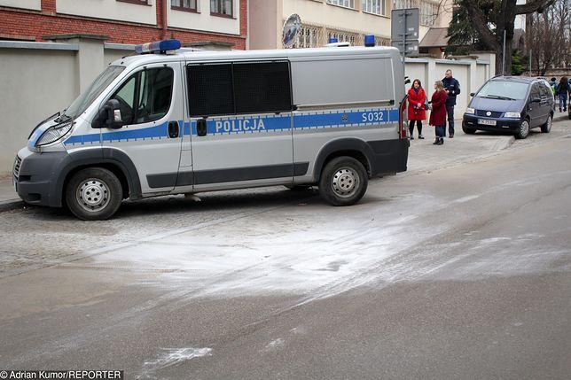 Mężczyzna podpalił się przed Komendą Policji w Kielcach