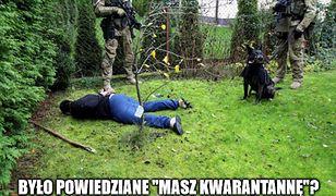 Koronawirus w Polsce. Zdjęcie udostępniła warszawska policja.