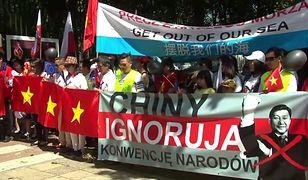 Wizyta Prezydenta Chin w Warszawie. Protesty przed Ambasadą